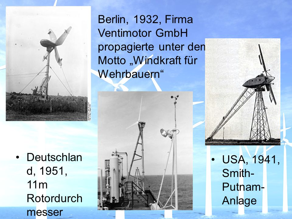"""Berlin, 1932, Firma Ventimotor GmbH propagierte unter dem Motto """"Windkraft für Wehrbauern"""