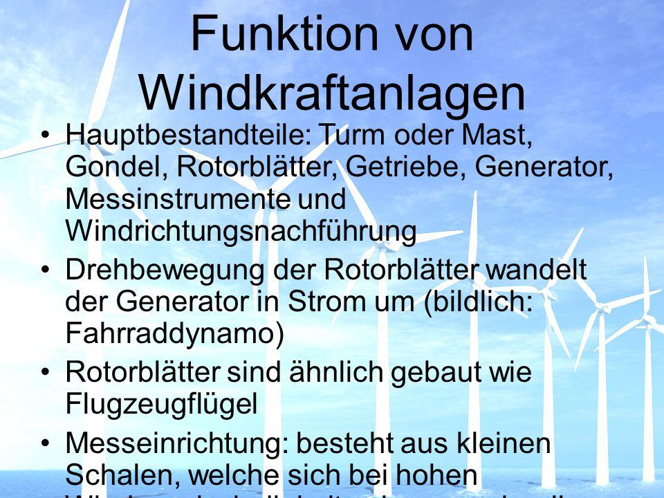 Funktion von Windkraftanlagen
