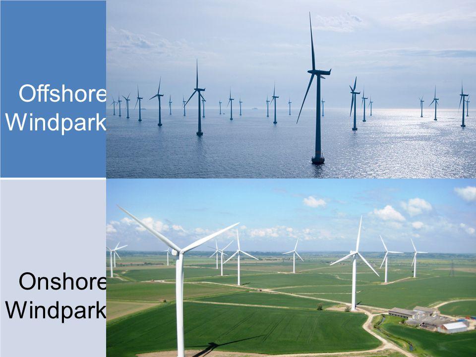 Offshore- Windpark Onshore-Windpark