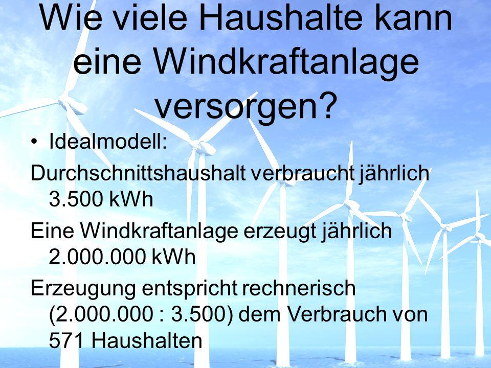 Wie viele Haushalte kann eine Windkraftanlage versorgen