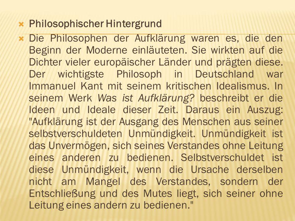 Philosophischer Hintergrund