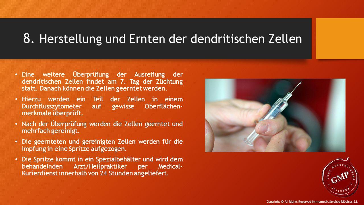 8. Herstellung und Ernten der dendritischen Zellen