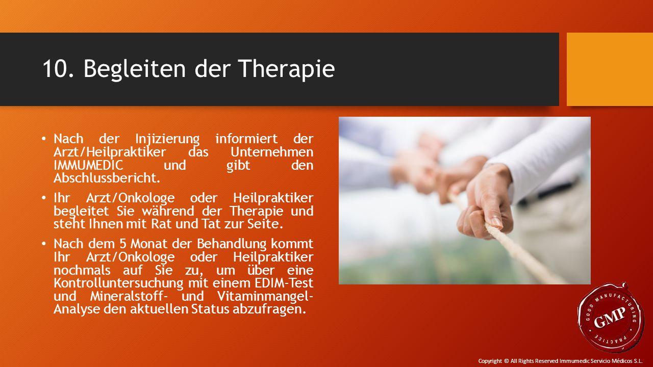 10. Begleiten der Therapie