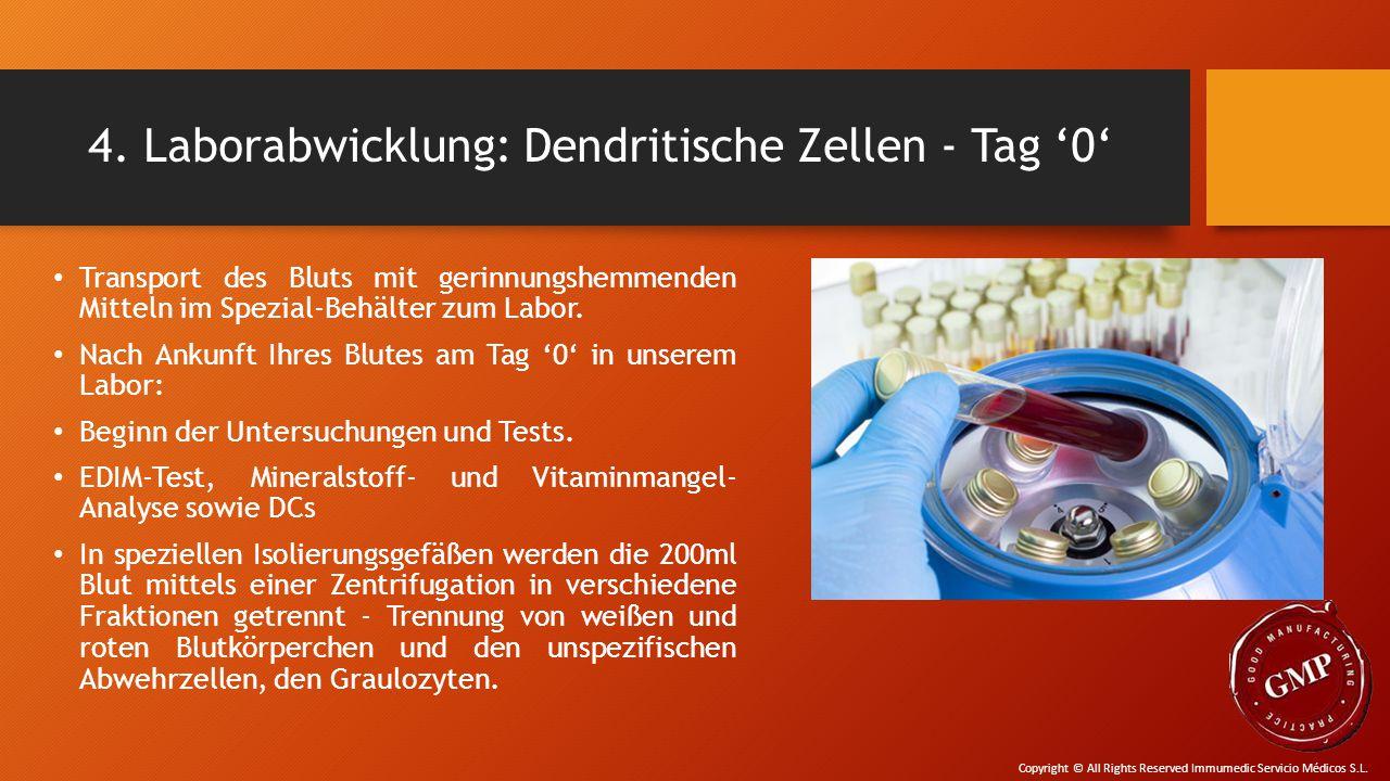 4. Laborabwicklung: Dendritische Zellen - Tag '0'