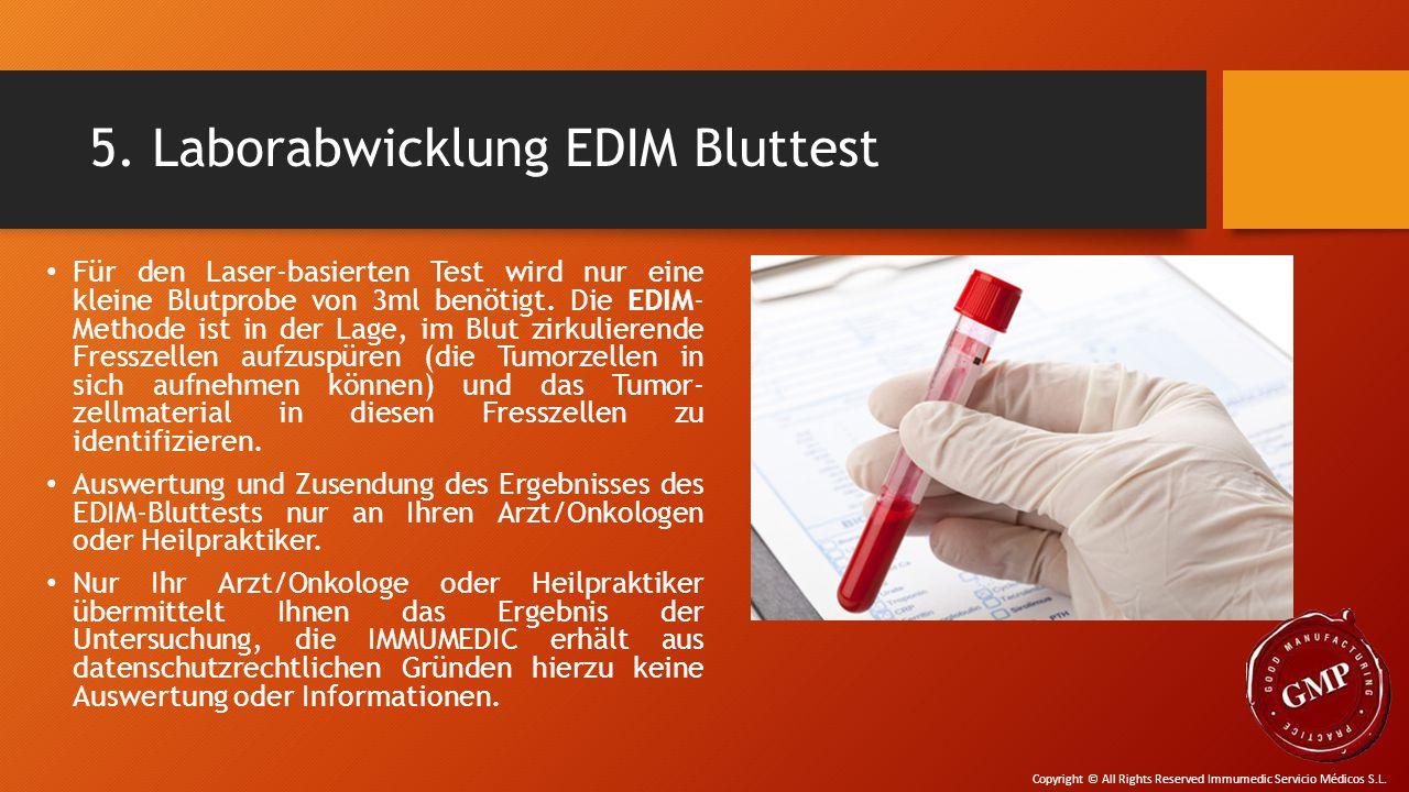 5. Laborabwicklung EDIM Bluttest