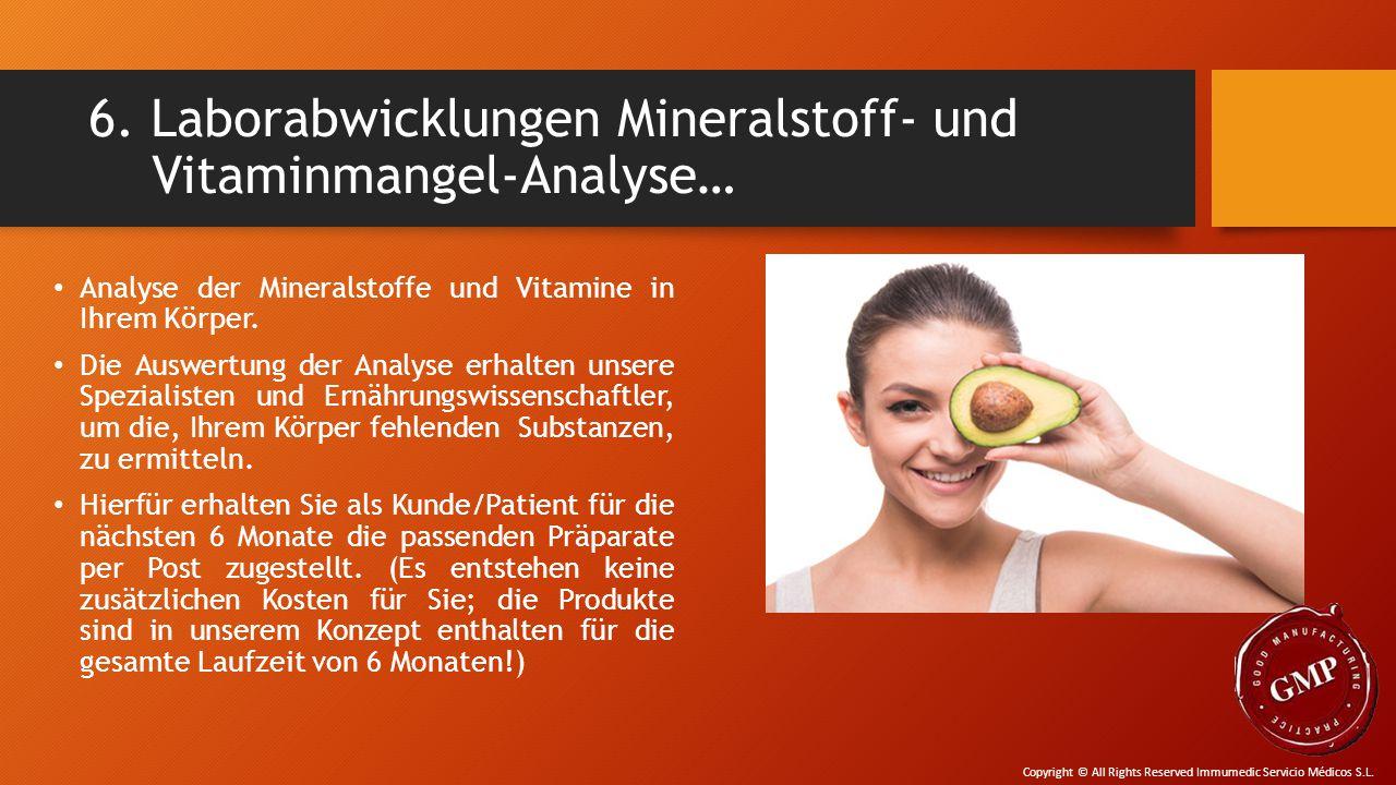 6. Laborabwicklungen Mineralstoff- und Vitaminmangel-Analyse…