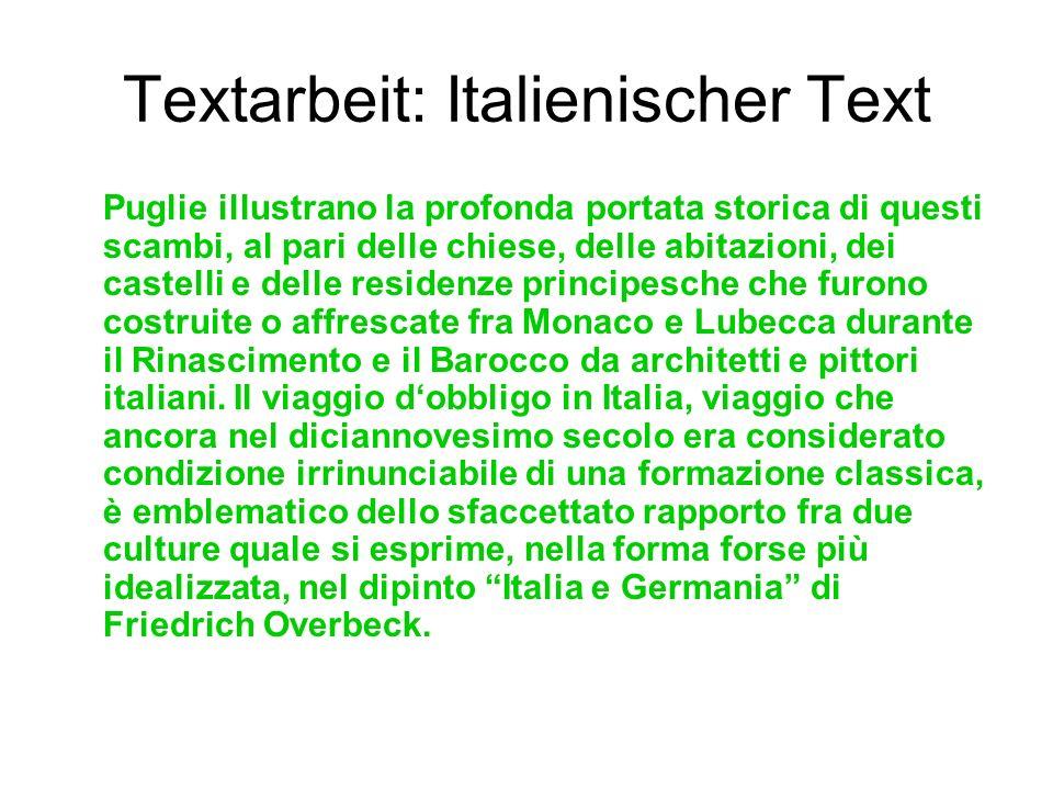 Textarbeit: Italienischer Text