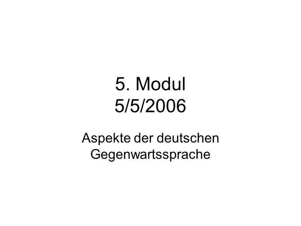 Aspekte der deutschen Gegenwartssprache