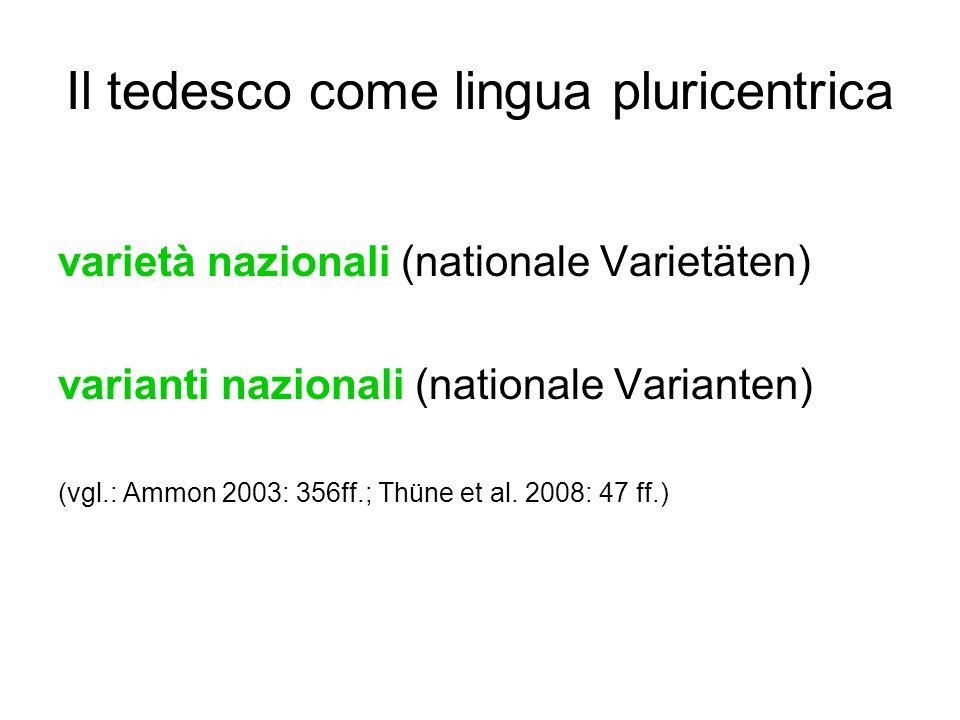 Il tedesco come lingua pluricentrica