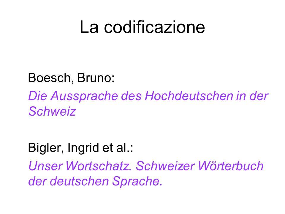 La codificazione Boesch, Bruno: