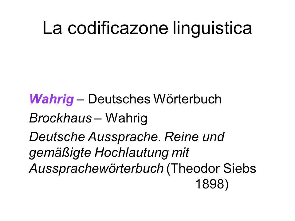 La codificazone linguistica
