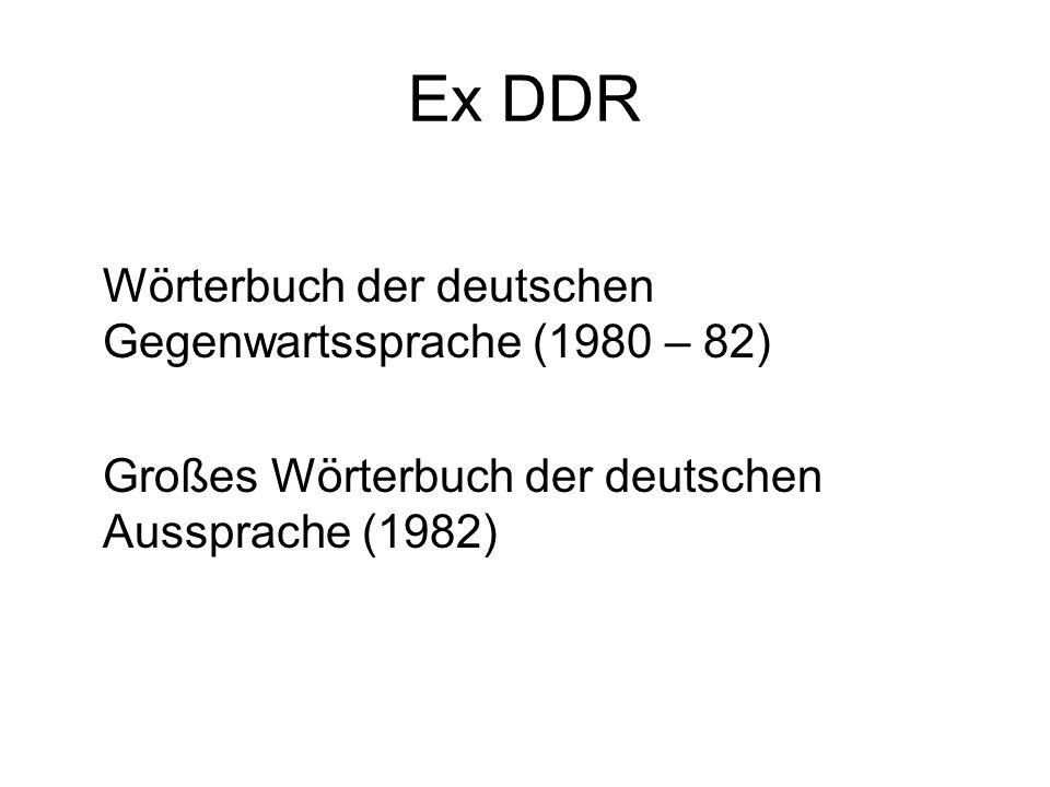 Ex DDR Wörterbuch der deutschen Gegenwartssprache (1980 – 82)