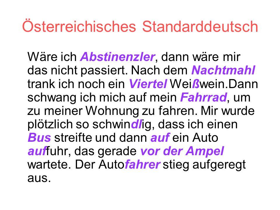 Österreichisches Standarddeutsch
