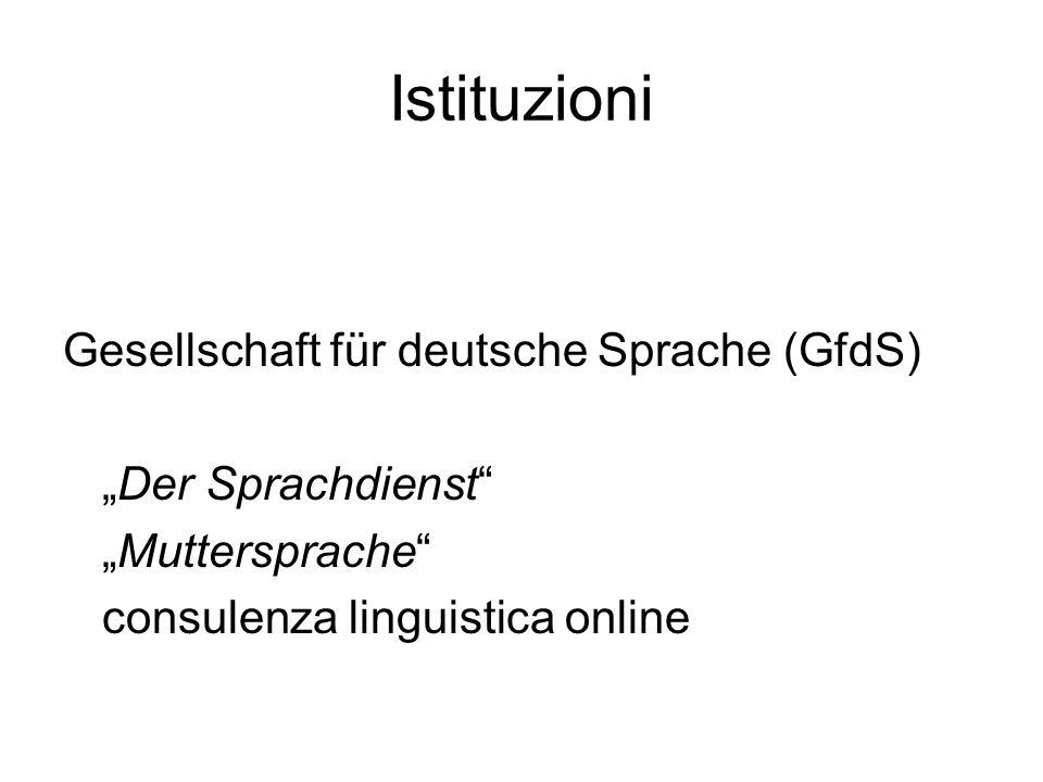Istituzioni Gesellschaft für deutsche Sprache (GfdS)