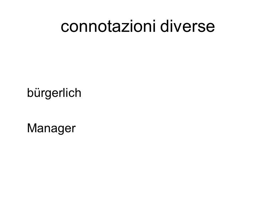 connotazioni diverse bürgerlich Manager