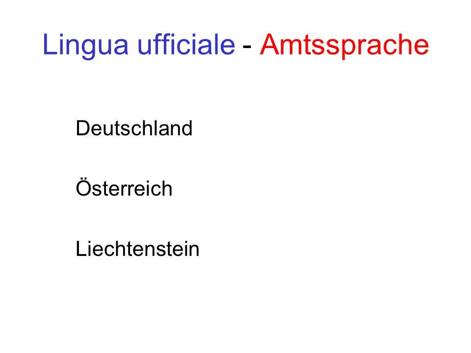 Lingua ufficiale - Amtssprache