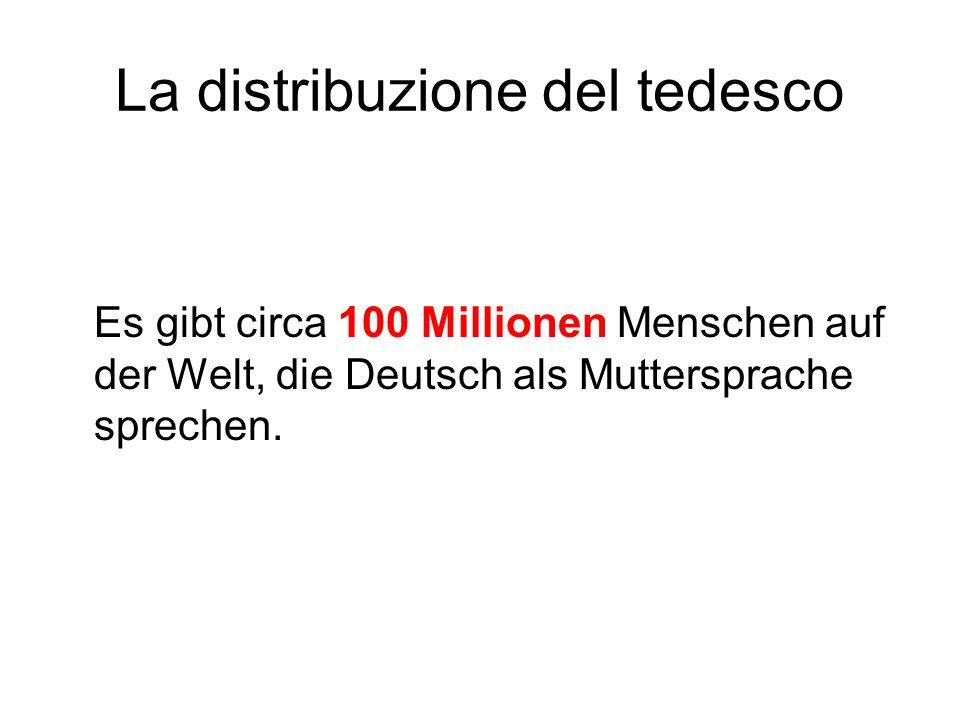 La distribuzione del tedesco