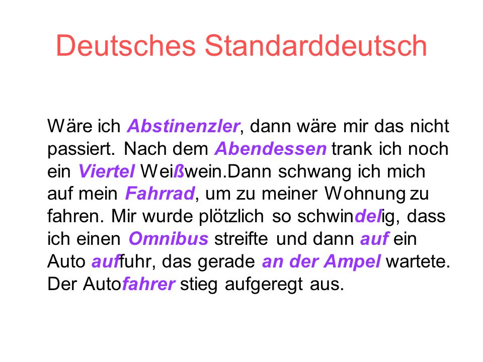 Deutsches Standarddeutsch