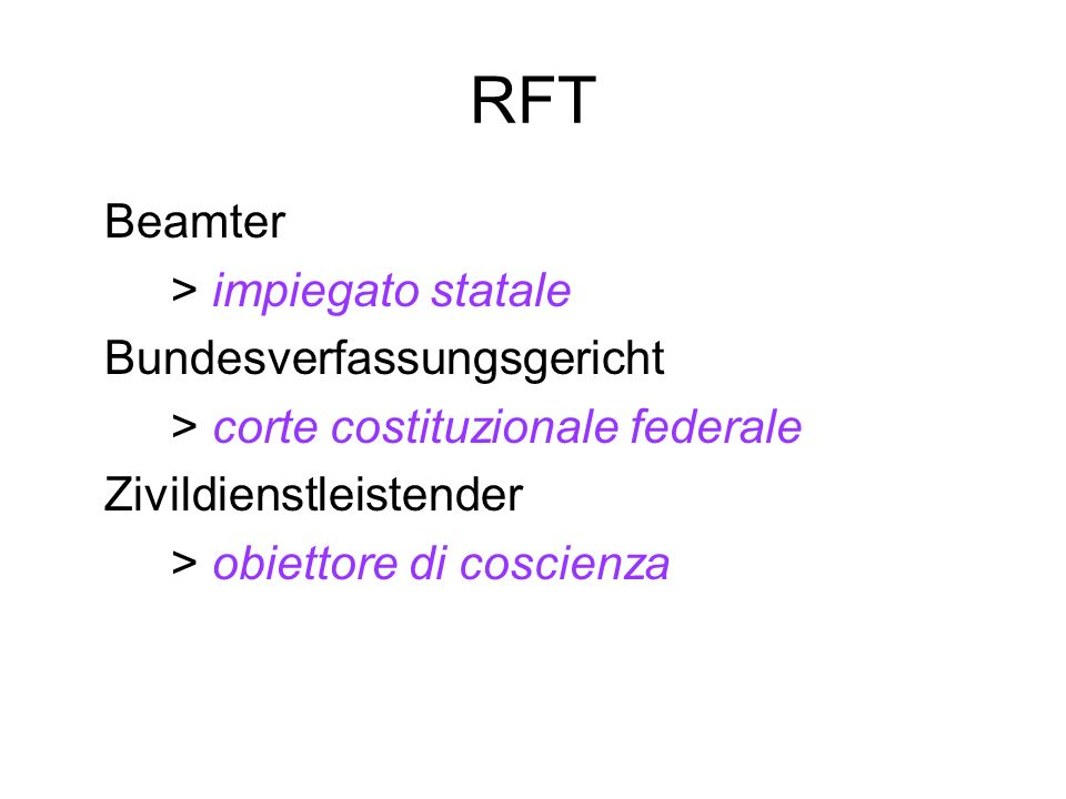 RFT Beamter > impiegato statale Bundesverfassungsgericht