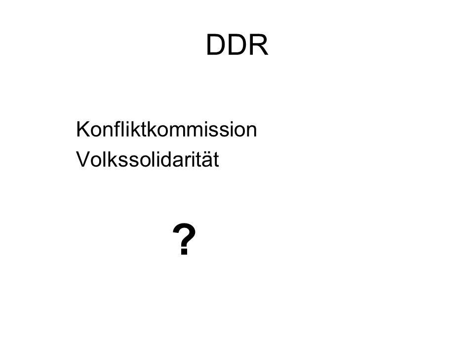 DDR Konfliktkommission Volkssolidarität