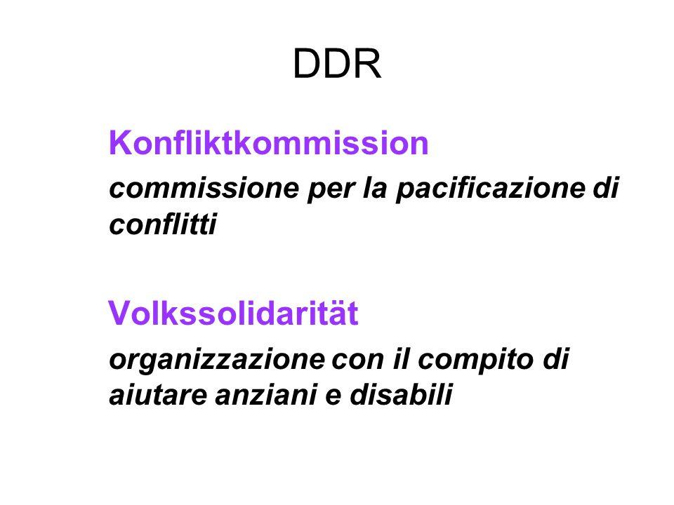 DDR Konfliktkommission commissione per la pacificazione di conflitti
