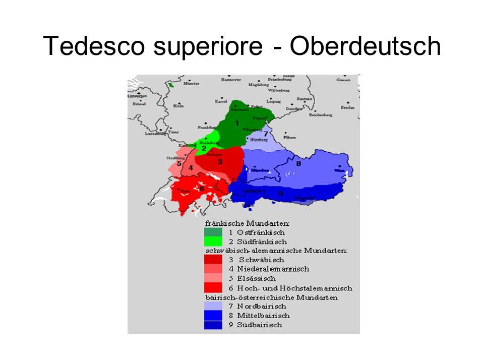 Tedesco superiore - Oberdeutsch