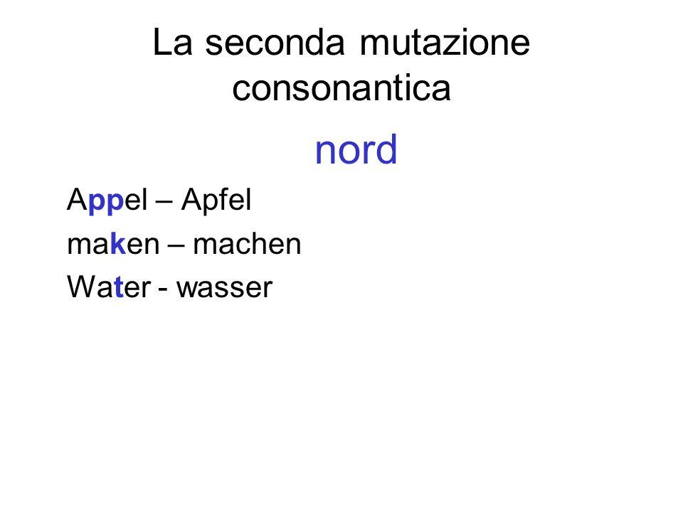 La seconda mutazione consonantica