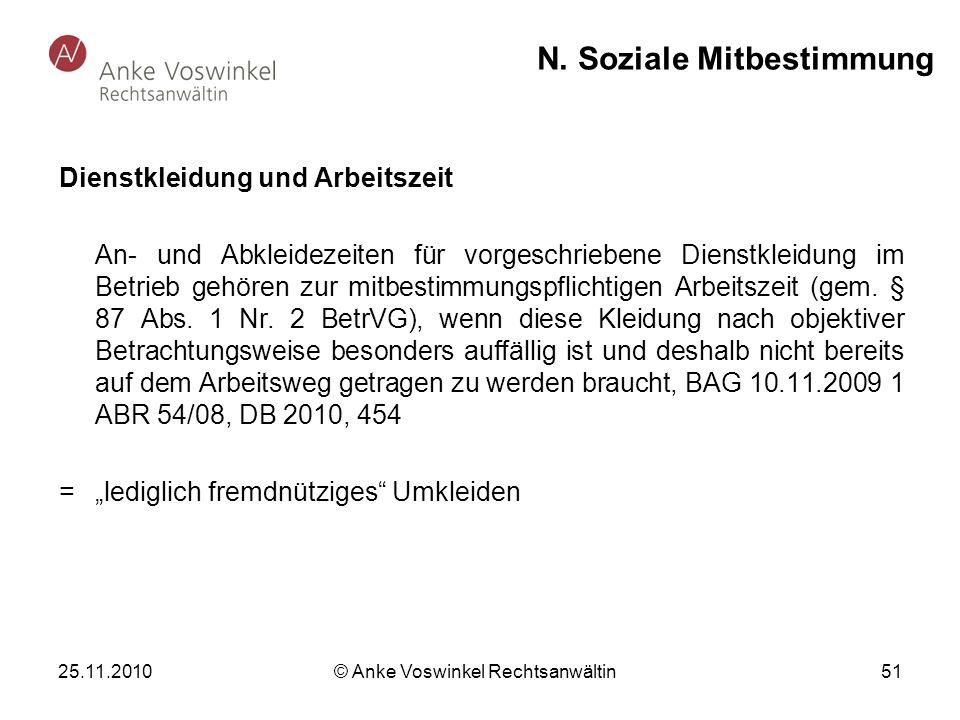 N. Soziale Mitbestimmung