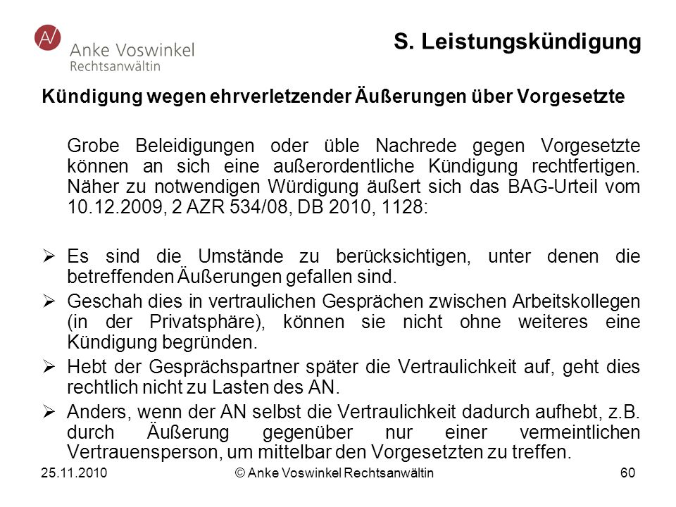 © Anke Voswinkel Rechtsanwältin