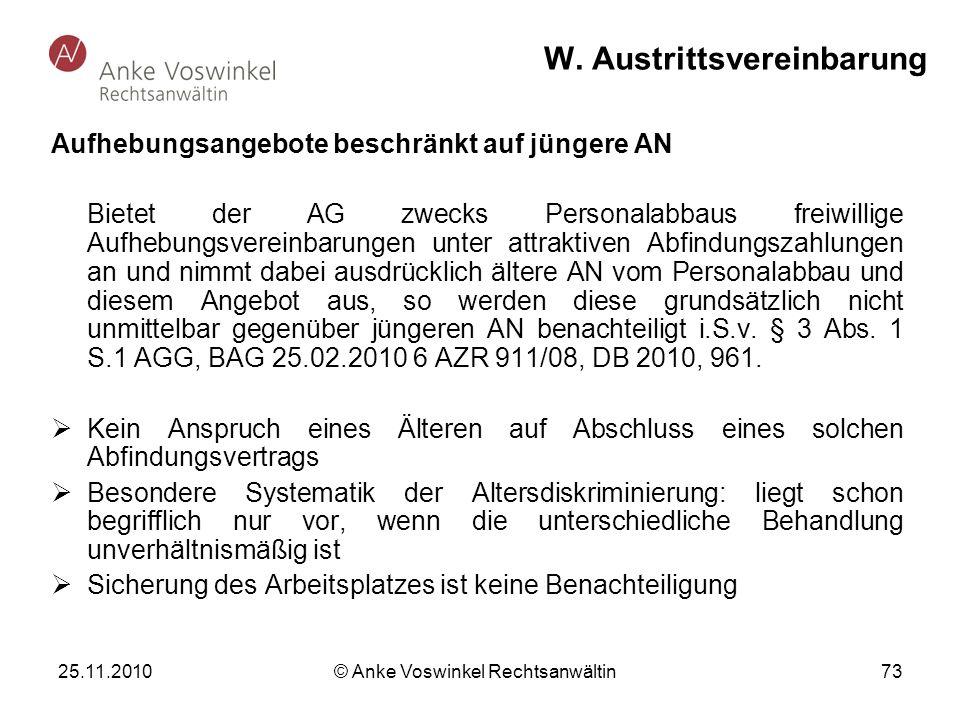W. Austrittsvereinbarung