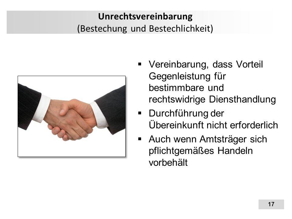 Unrechtsvereinbarung (Bestechung und Bestechlichkeit)