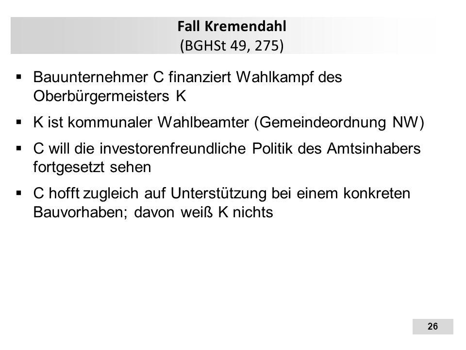Fall Kremendahl (BGHSt 49, 275)