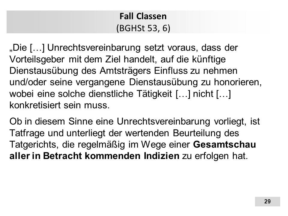 Fall Classen (BGHSt 53, 6)