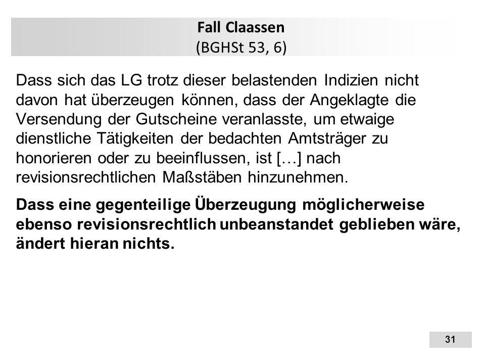 Fall Claassen (BGHSt 53, 6)