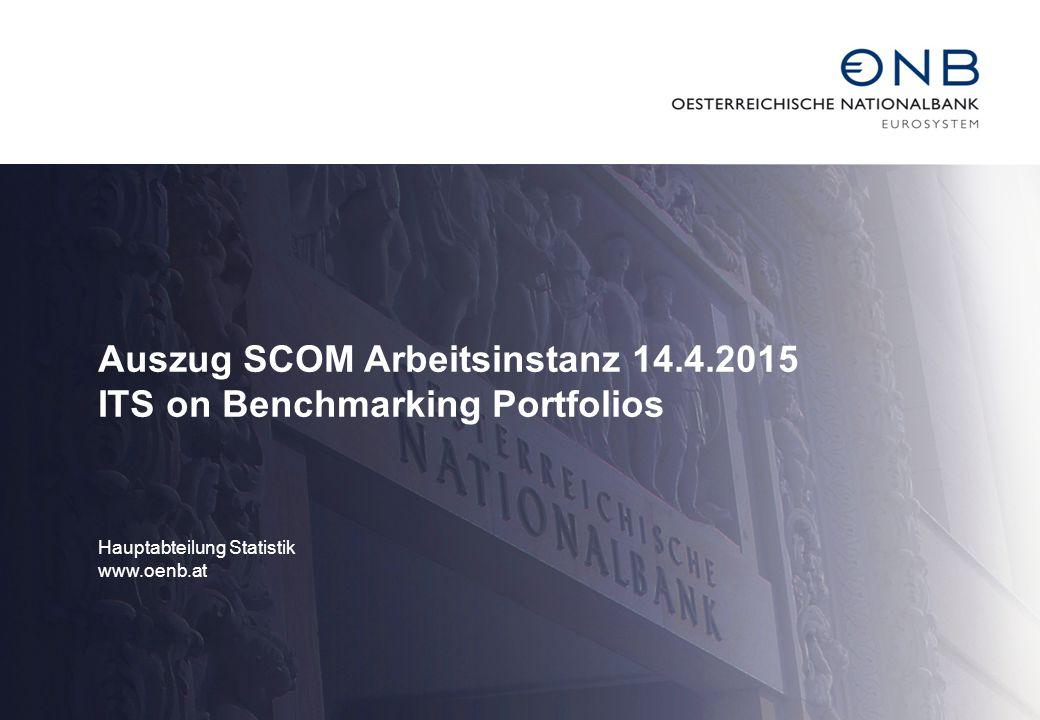 Auszug SCOM Arbeitsinstanz 14.4.2015 ITS on Benchmarking Portfolios