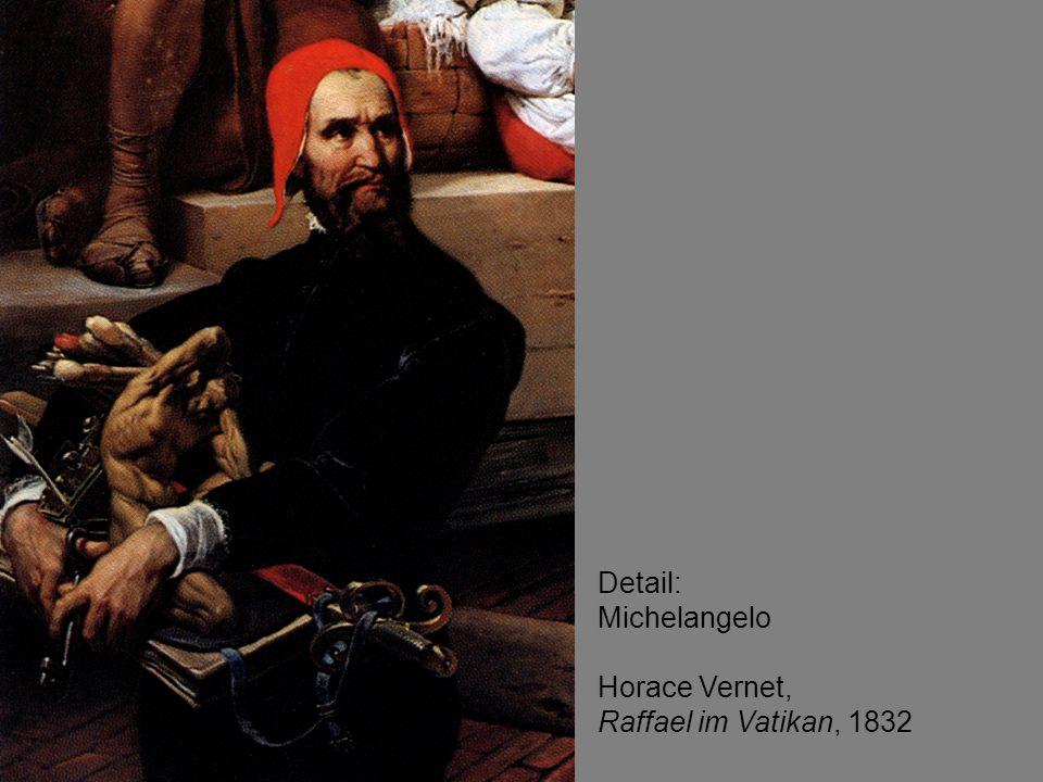 Detail: Michelangelo Horace Vernet, Raffael im Vatikan, 1832