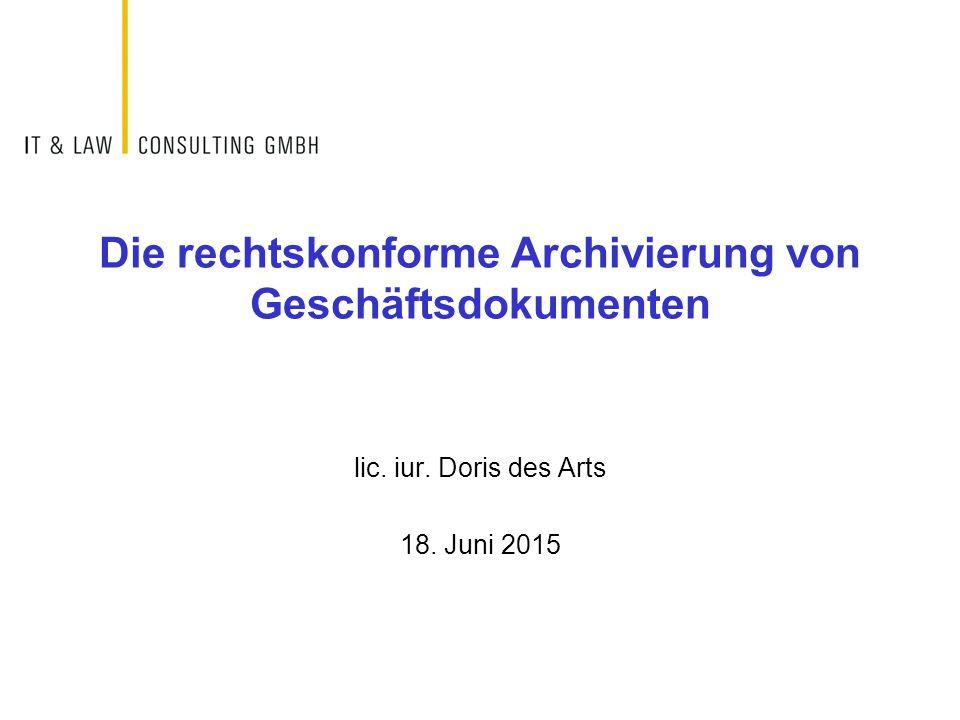 Die rechtskonforme Archivierung von Geschäftsdokumenten