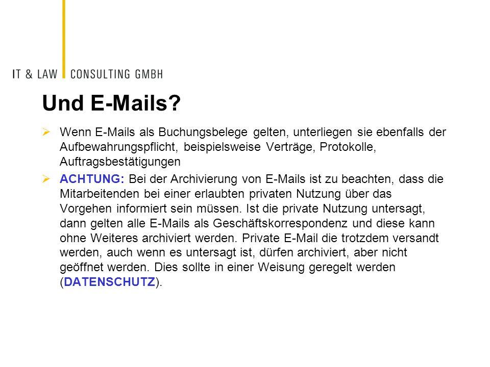 Und E-Mails