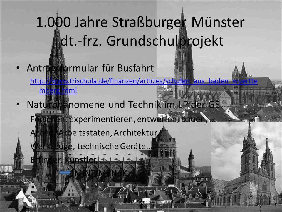 1.000 Jahre Straßburger Münster dt.-frz. Grundschulprojekt