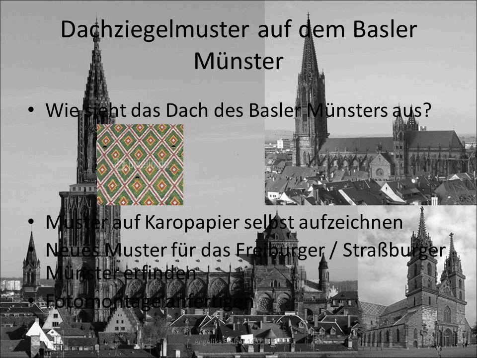Dachziegelmuster auf dem Basler Münster
