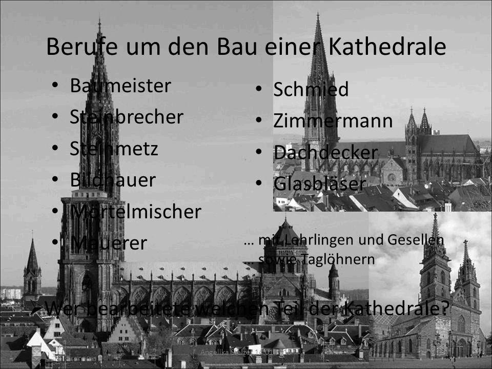 Berufe um den Bau einer Kathedrale