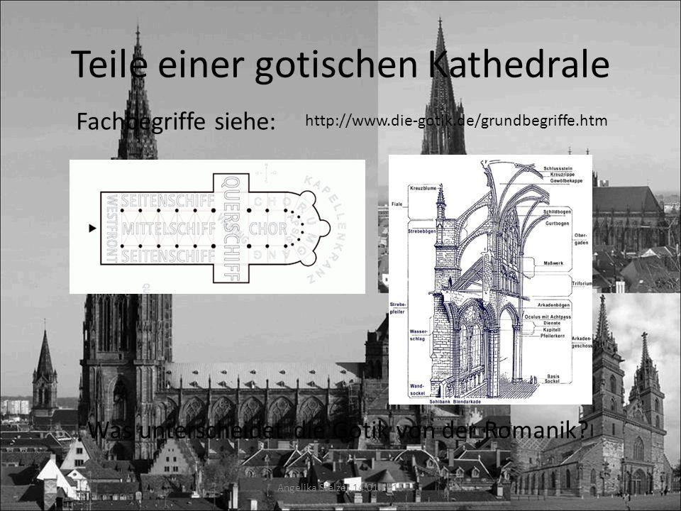 Teile einer gotischen Kathedrale