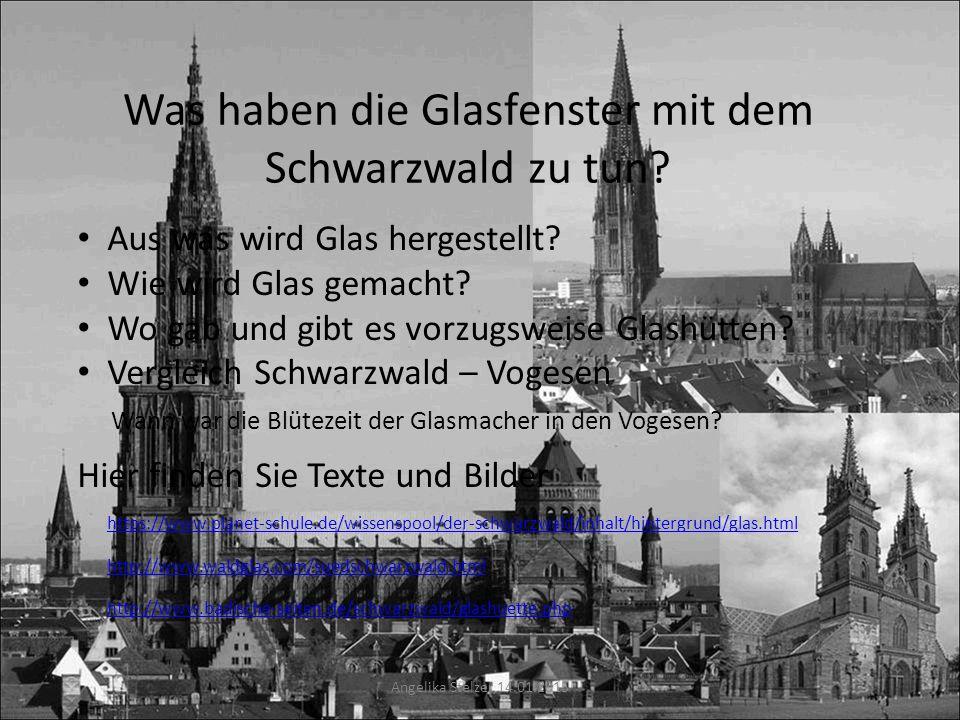Was haben die Glasfenster mit dem Schwarzwald zu tun