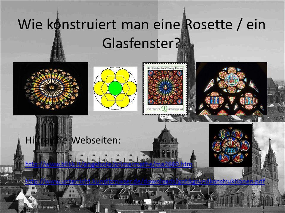 Wie konstruiert man eine Rosette / ein Glasfenster