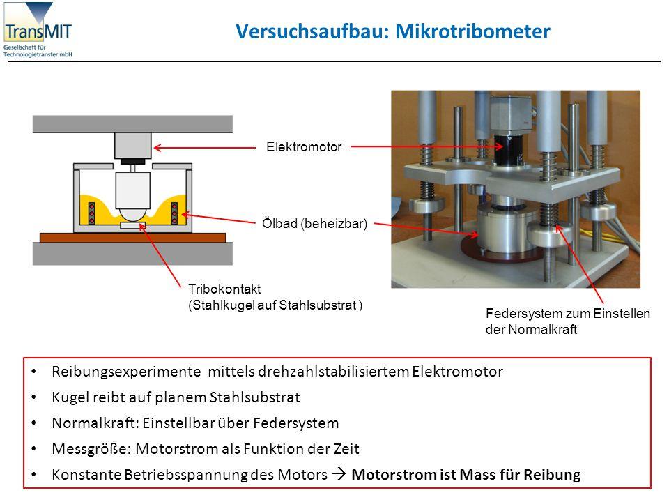 Versuchsaufbau: Mikrotribometer