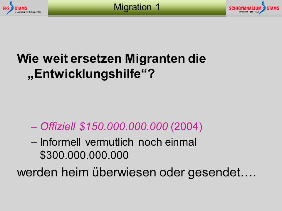 """Wie weit ersetzen Migranten die """"Entwicklungshilfe"""