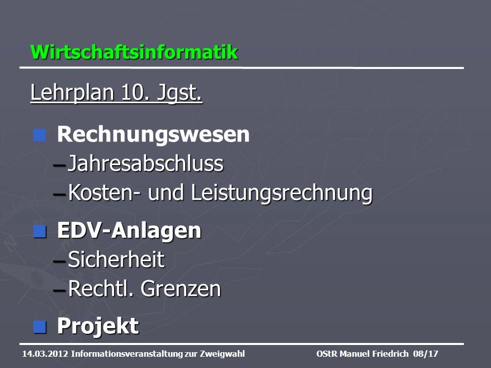 Kosten- und Leistungsrechnung EDV-Anlagen Sicherheit Rechtl. Grenzen