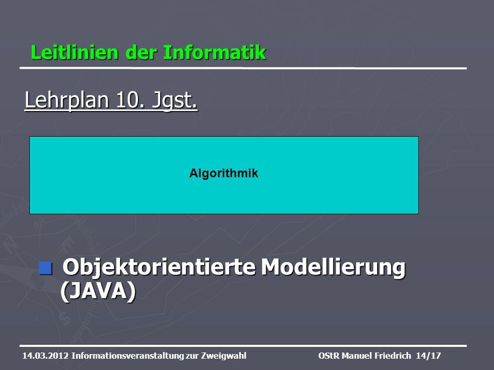 Objektorientierte Modellierung (JAVA)