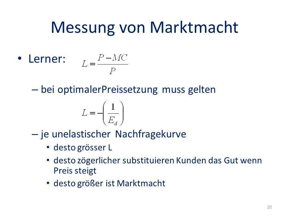 Messung von Marktmacht