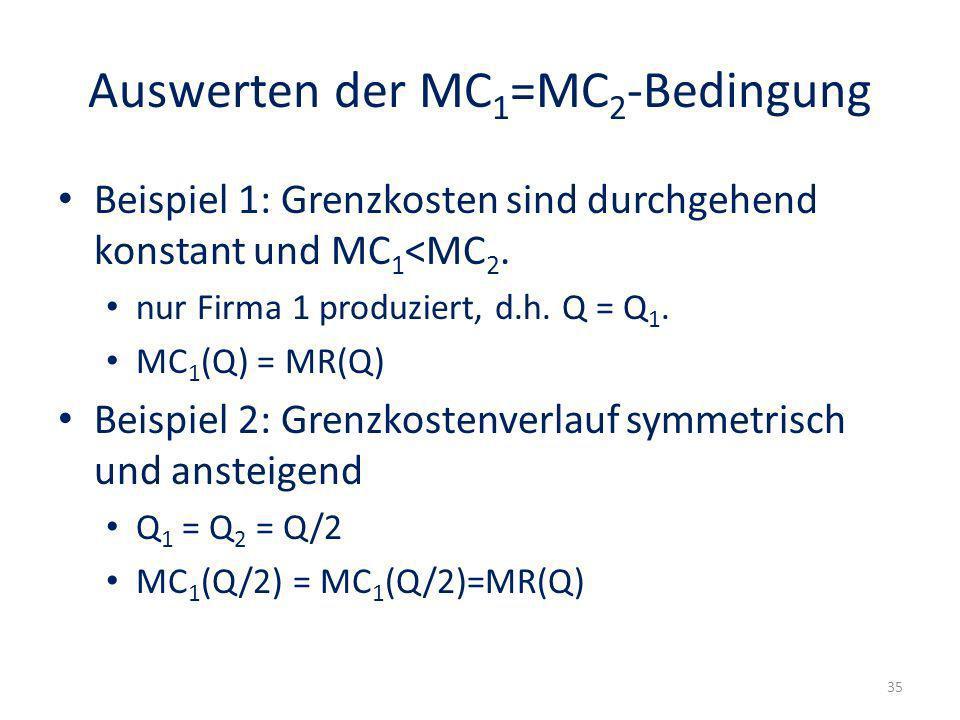 Auswerten der MC1=MC2-Bedingung